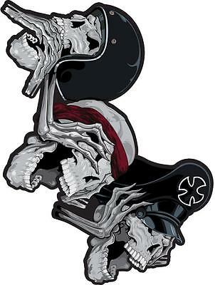 LETHAL THREAT Motorcycle Scooter Bike Board Decal Helmet Mini Sticker RC00055