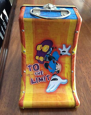 Mickey Mouse Skateboarding Lunchbox with Skateboard