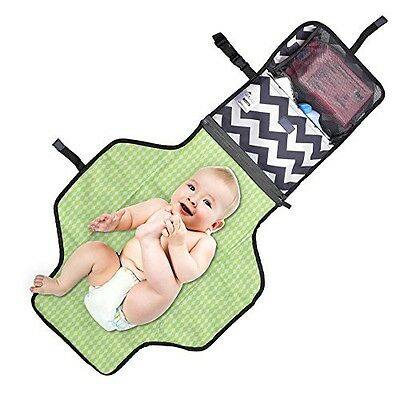 Aautoo Portable Changing Mat Diaper Changing Pad Head Cushion Inside Baby Travel