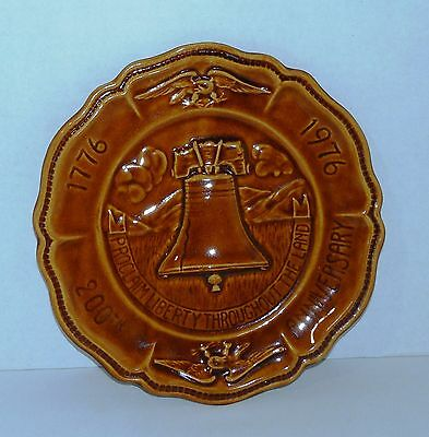 Vintage Liberty Bell/Bicentennial 200th Anniversary Ca. Pottery Collector Plate