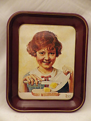 "Norman Rockwell ""Butter Girl"", First limited edition Collector tray - Dated 1975"
