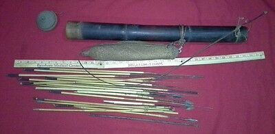 Vintage African quiver and arrows, bamboo