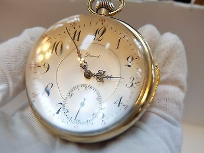 ANTIQUE QUARTER REPEATER SKELETON GLASS BALL PAPERWEIGHT CLOCK (Watch video)