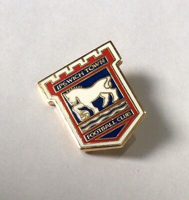 IPSWICH TOWN Football Club Badge FC SUPPORTERS SHIELD EMBLEM 19 mms PIN. 1 of 4