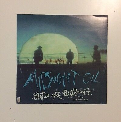 "Midnight Oil - Beds Are Burning - 12"" LP Vinyl Record - (1989)"