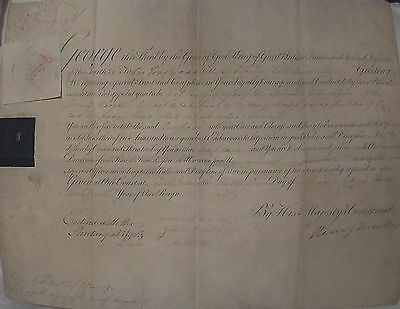 King George III Signed Autograph Warrant Commission Document Queen Victoria GF