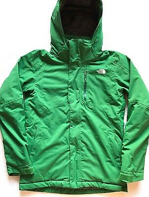 The North Face Mens Ski Snowboard Jacket Insulated Winter Snow Coat S Green