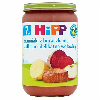 HiPP Organic Potatoes with beets apple and delicate beef-GLUTEN FREE