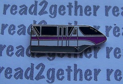 Disney Pin WDW Cast Lanyard Collection 4 Monorails Purple with Hidden Mickey