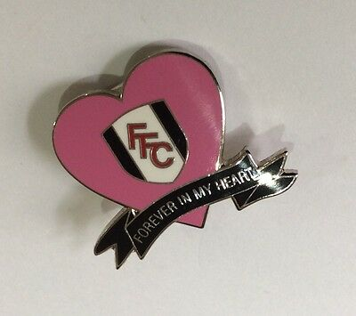 FULHAM Football Club Badge FC FFC Enamel SUPPORTERS PINK LADIES PIN