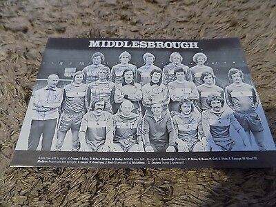 MIDDLESBROUGH Multi signed 1978 Team Group (x9)