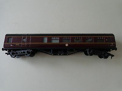 Exley 00 gauge BR (M) open brake 2nd coach in BR maroon livery
