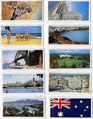"""Trade Cards Lyons Tea """"Australia"""". 47 cards from a set of 48."""