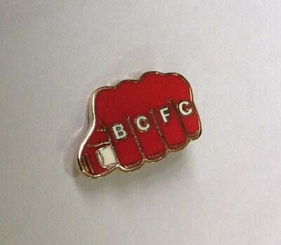 "BRISTOL CITY Football Club Badge FC ""KNUCKLES FIST"" Style Enamel SUPPORTERS PIN"