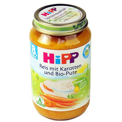 HiPP ORGANIC Rice with carrots and organic turkey baby meal- from the 8th month