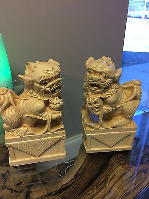 Hand carved Resin Chinese Guardian Lions