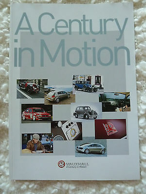 VAUXHALL A Century in Motion 100 Year Celebration publicity brochure