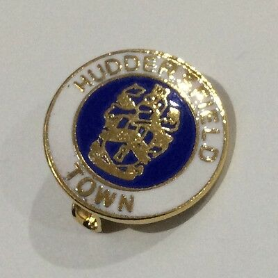Old HUDDERSFIELD TOWN Football Club Badge FC Enamel SUPPORTERS Pin BLUE INNER 3