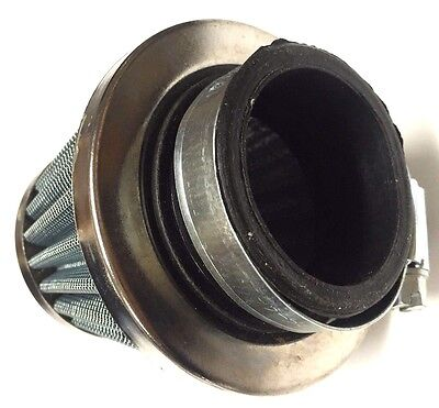 New 32MM CHROME CONE POWER AIR FILTER for HONDA KAWASAKI SUZUKI YAMAHA SYM E2