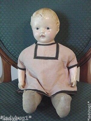 """Antique~Vintage Marked EFFANBEE Composition ~ Cloth Baby Dolls~ DOLL  17"""""""