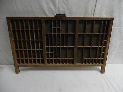 "Vintage Hamilton Type Set Drawer for Curios 32"" X 19 1/2"""