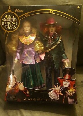 Disney Alice Through the Looking Glass Alice & Mad Hatter COLLECTABLE dolls.