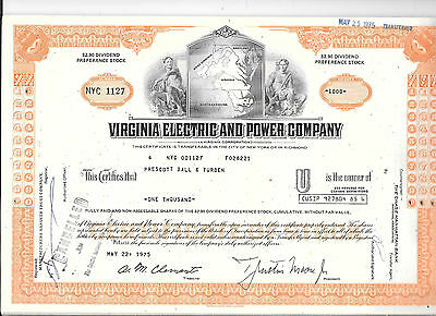 62--Virginia Electric And Power---Stock Certificates
