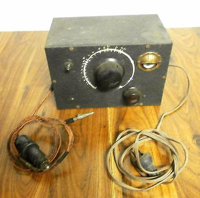 Vintage Old Antique Radio Tester with working tuning eye