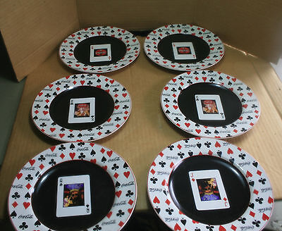 "Coca-Cola (6)  Decorative Playing Cards Plates, 8 1/4"" Diameter In Size"