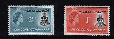 CAYMAN ISLANDS SG163/4 1959 NEW CONSTITUTION Lightly Mounted Mint