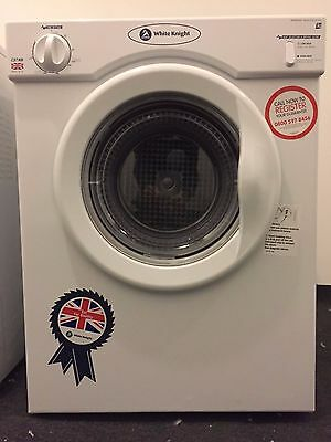 White Knight C37AW Compact Vented Tumble Dryer 3KG. Unused.
