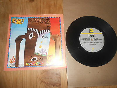 UB40    SING OUR OWN SONG   7inch VINYL