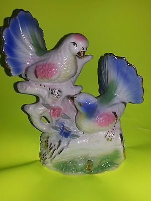Porcelain Figurine Of Two Love Doves/pigeons