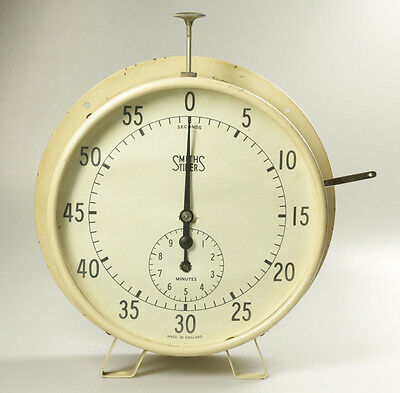 Vintage Smiths Large Laboratory Timer - Freestanding or Wall Mounted - Working