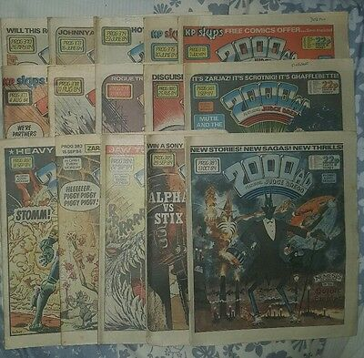 2000ad collection of 15 comics from 1984