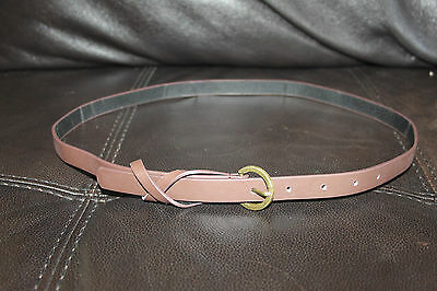 Joblot of 23 New Skinny brown faux leather belts - great for resale