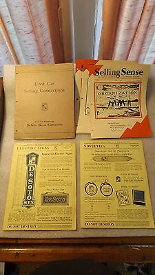 Antique DeSoto Dealer Advertising Flyers Promotions Etc Big Lot Of Paper (P)