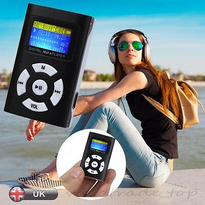 Protable LCD Screen USB Mini MP3 Player  Support 32GB Micro SD TF Card Gift