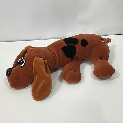 "Vintage Pound Puppies Puppy 18"" Long Brown Black Spots"