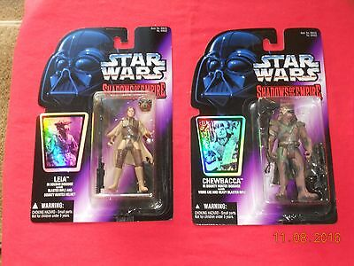 "Star Wars  - Action Figures -""chewbacca"" & ""leia In Disguise"" Shadows Of Empire"