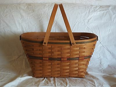 1992 Longaberger Christmas Collection Seasons Greetings Basket With Liner