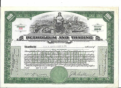 Petroleum And Trading---1929--Stock Certificate