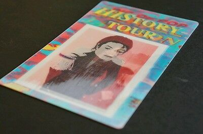MICHAEL JACKSON 3D special backstage pass ticket. VERY RARE. HARD TO FIND