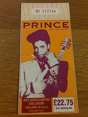 PRINCE concert ticket 1992 tour dublin VERY RARE HARD TO FIND