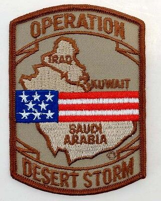 DENMARK MILITARY Vintage OPERATION DESERT STORM Embroidered Cloth Patch