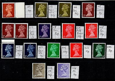 Machin  16   Different Pre-Decimal  Specialised   Unhinged Mint