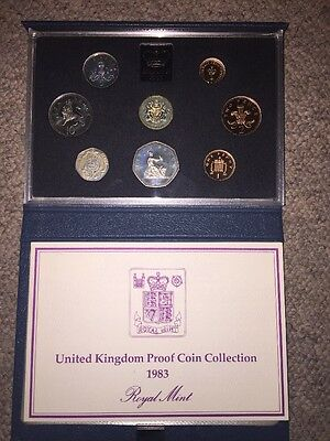 United Kingdom Royal Mint 1983 Proof Coin Collection - Cased With Certificate.