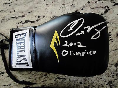 Oscar Valdez Signed Laced Everlast Boxing Glove W/coa  Wbo Champ