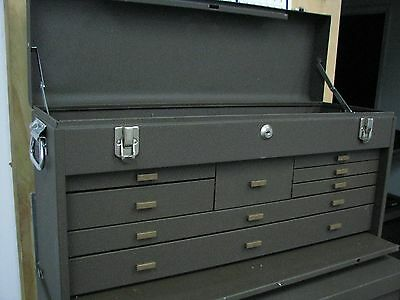 KENNEDY  8 DRAWER MACHINIST CHEST TOOLBOX BOX with Key