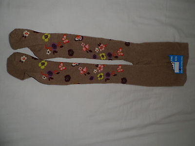 New Next girls floral tights age 5-6 years
